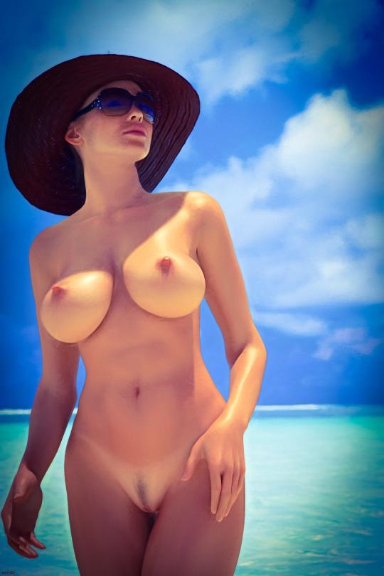 photo femme grosse poitrine nue dans le 064